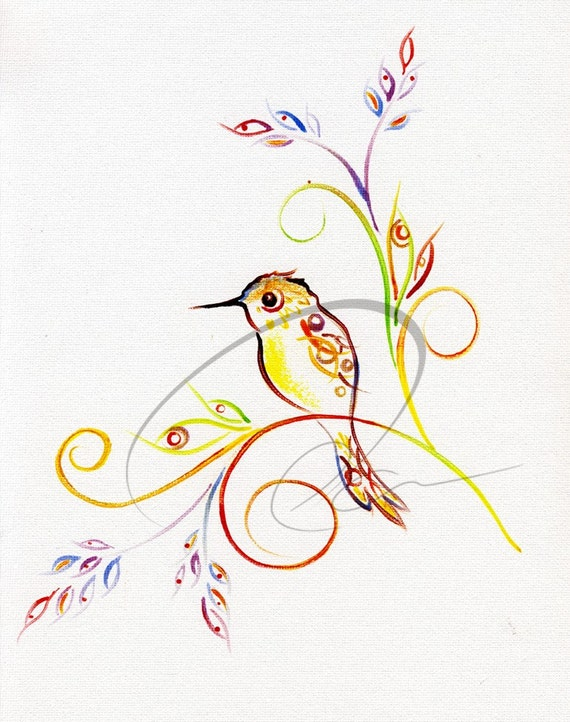 But Two get One for FREE - Humming bird - Limited Edition Print