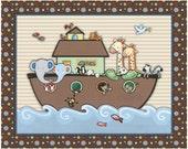 Noah's Ark Nursery Art print.  Made to Match SS Noah Bedding