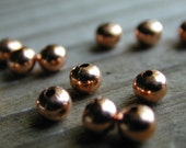 36 Solid Copper 4 mm Smooth Rondelle Beads with 1mm Hole, Lead and Nickel Free