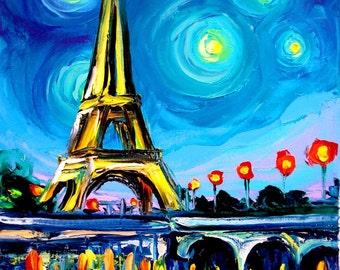 Eiffel VII - 11x14 Paris signed Lustre print reproduction by Aja ebsq
