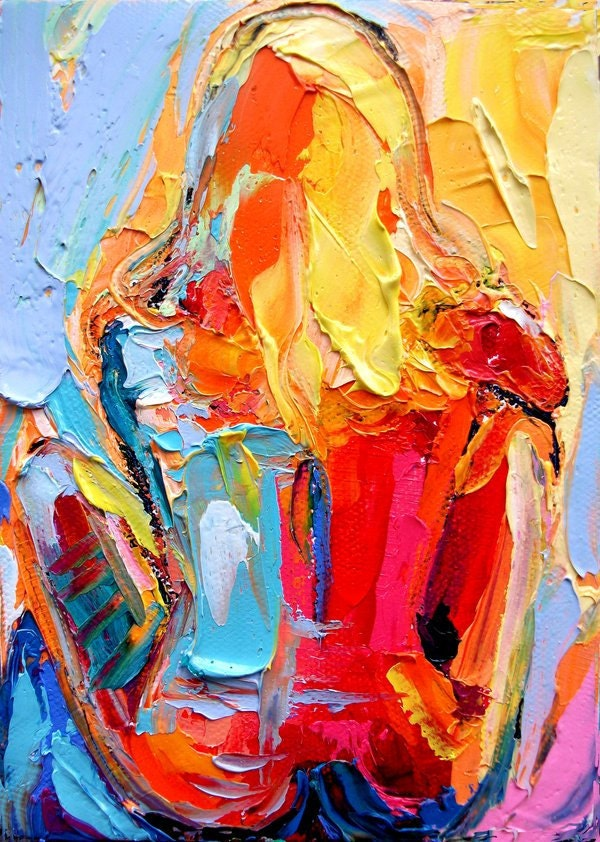 Femme 104 Large 18x24 abstract nude print reproduction by