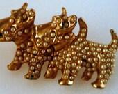 Scottish Terrier Scotty dog doggy Pin brooch pot metal