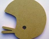 HELMET 8 inch unfinished MDF shape