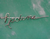 Signature Brooch Pin - Any Name