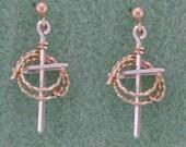 Custom Cross and Lariat Earrings