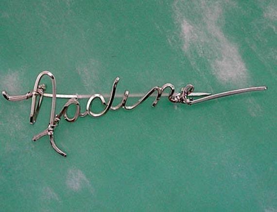 Signature Brooch Pin - Any Name