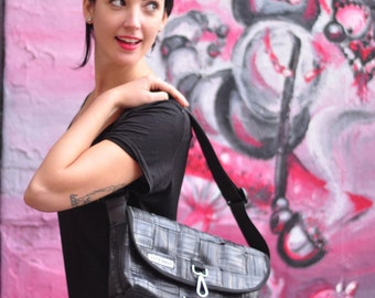 Recycled Bike Tube Woven Purse