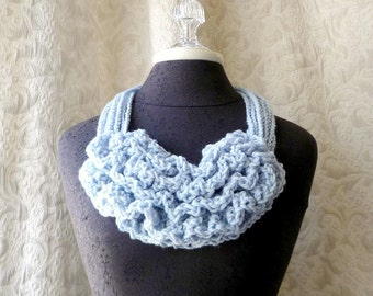 Bustle Collar - Wild West Series - Crocheted Scarflette - Wearable Fiber Art