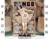 Bingo Queen Assemblage Vintage Inspired Mixed Media Collage Altered Art