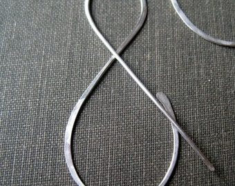 Silver And Earrings, sterling symbol jewelry, ampersand, gift under 25, maryandjane etsy