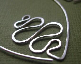 Sterling Leafy Hoops - River, silver oval earrings, leaf earrings, silver river earrings, gift under 50, holiday gift, maryandjane