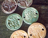 Group of 6 TREE themed ceramic medallions