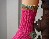 Knit Socks Pattern: Cupcake Cabled Socks