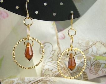 Amber Hoop Earrings