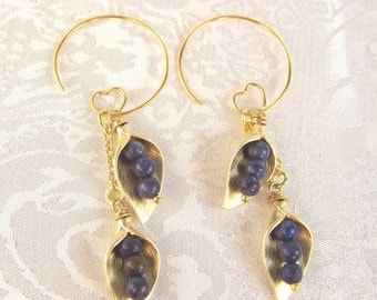 Lapis and Callas Earrings