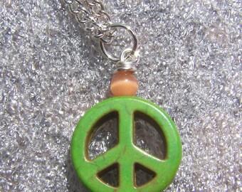 AG  Doll Peace Pendant  Necklace