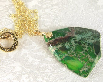 Sea Sediment Jasper Pendant Necklace