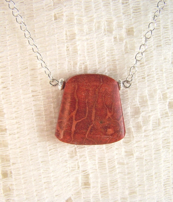 Red Sponge Coral Pendant
