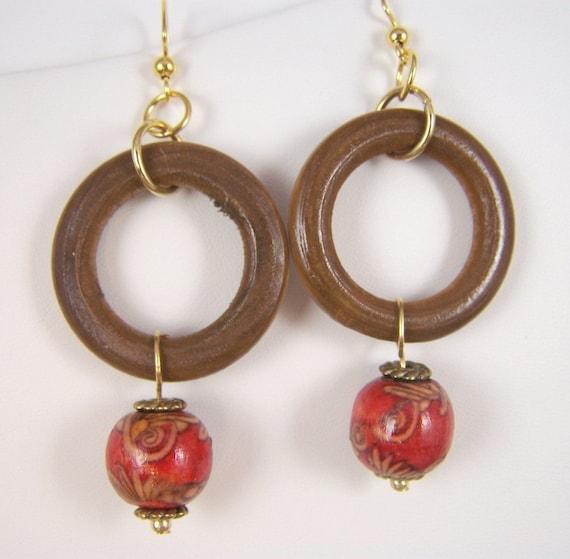 Earrings of Wood