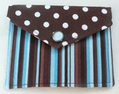 Brown is Cool - Dots and Stripes Coin Purse\/Card Holder