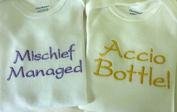Set of Two Embroidered Magical Onesies