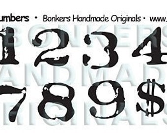 Stamp Act Numbers Rubber Stamp Sheet
