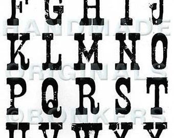 Nashville Alphabet Rubber Stamp Sheet