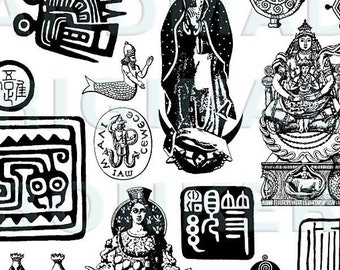 Ethnic Miscellany Rubber Stamp Sheet