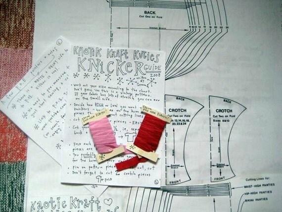 Knicker Making Kit \/ Pattern