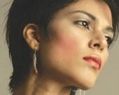 Bella Sterling silver golden Pearls Earrings