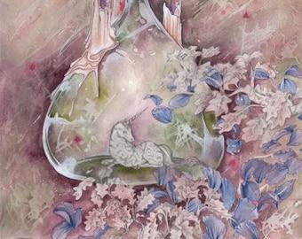 Garden Wine // Faery / Fantasy Art Print