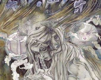 Underground // Faerie / Magical / Fantasy Art Print