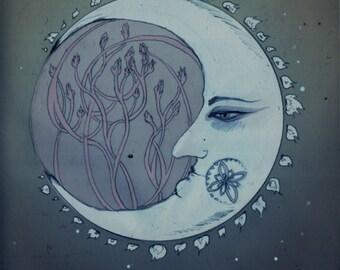Crescent - Astrology / Magic / Fantasy Art Print