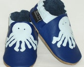 Mini Toes soft sole leather BABY crib leather shoes octopus pick your size