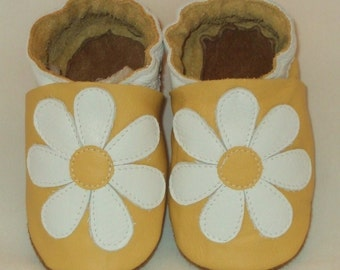 Happy Flower Leather Baby Shoes