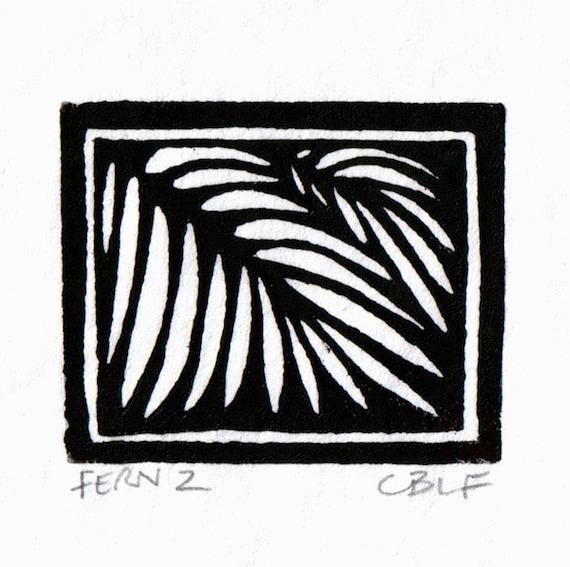 Fern 2 original block print