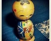 Kokeshi nodder doll, boy, Made in Japan