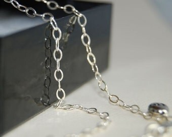 18 inch OVAL Link Sterling Silver Chain
