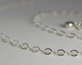 18 Inch ROUND Link Sterling Silver Chain