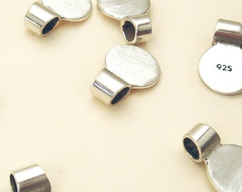 5 Sterling Silver Tube Bails 10 mm Round
