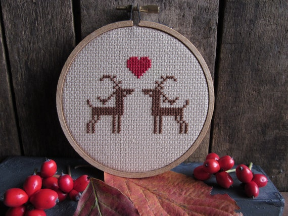 diy x-stitch kit (materials and pattern) darling deer - LAST ONE