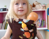 CUSTOM Adjustable Toy Doll Carrier/Soft Fabric Carrier Just Like Mom's Buckle Carrier/Handmade with charming prints and corduroy