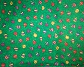 Destash of Cotton Christmas Ornaments Fabric 45 x 93 in