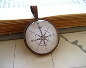 SALE Map Compass Necklace Pendant III