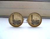 Great Gift for Dad Vintage Train Cufflinks