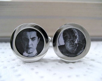 Dracula and The Wolfman  Cufflinks