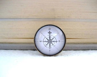Compass Tie Tack or Lapel Pin