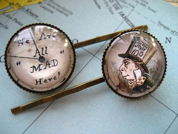Mad Hatter Bobby Pin Set
