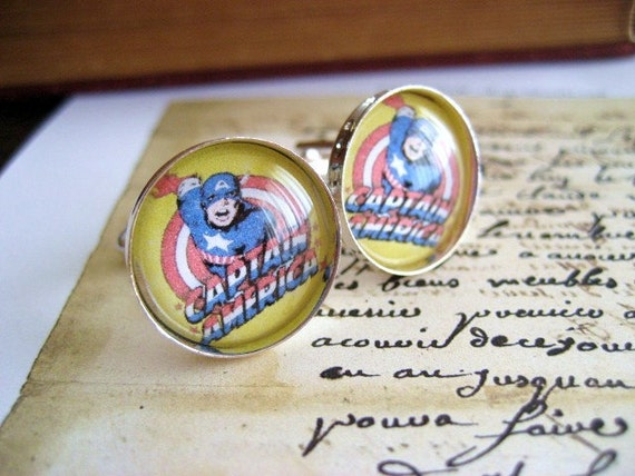 Mens Cufflinks- Captain America