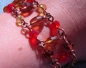 RESERVED for EAST Harvest Treasure Hunt- Autumn bracelet